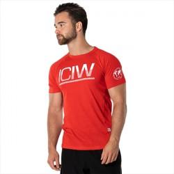 ICANIWILL Split Print Tri-blend T-shirt Red