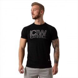 ICANIWILL Tri-Blend T-shirt Black/Grey