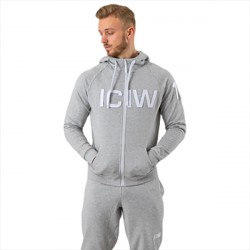 ICANIWILL Zipper Hoodie Heather Grey