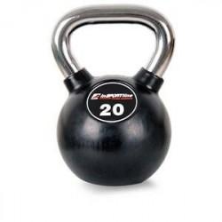 inSPORTline Kettlebell, gummi/krom 20 kg, inSPORTline