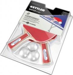 Kettler Match Bordtennis Sæt (2 bat & 3 bolde)