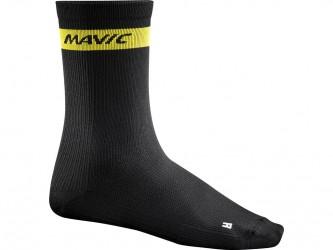 Mavic Cosmic High Sock - Cykelstrømper - Sort - Str. 39-42