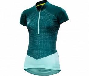 Mavic Sequence Graphic Jersey - Cykeltrøje med korte ærmer - Dame - Mørkegrøn