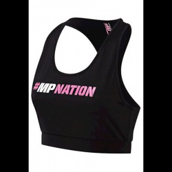 MusclePharm Ladies Crop Top #MPNation - Black/Pink