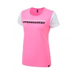 Musclepharm T-shirt Strong & Sexy Hot Pink
