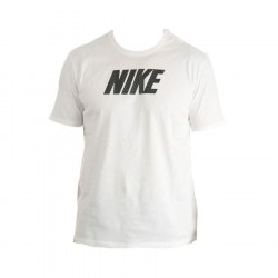 Nike T-shirt Striped Logo White