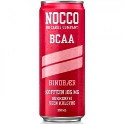 Nocco BCAA 330 ml - Hindbær - 24 stk