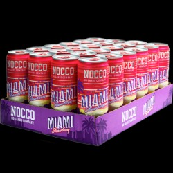 Nocco BCAA Miami Strawberry Limited Edition - 24 stk