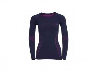 Odlo - Evolution Warm Shirt Crew Neck - Dame - Lilla/Pink