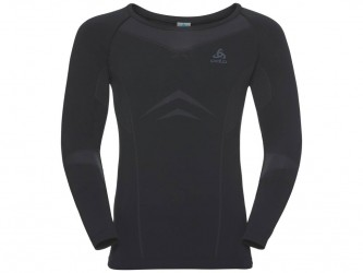 Odlo - Performance light Suw Top - Svedbluse - Herre - Sort/grå