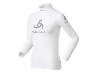 Odlo - Shirt l/s crew neck logo line - Løbebluse - Dame - Hvid - Str. XL