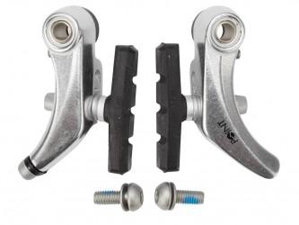 Point Bremseklo for Cantilever bremse sølv
