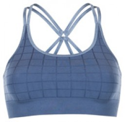 Run & Relax Quilted Bra Misty Blue Grey