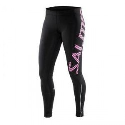 Salming Running Tights Women, black/pink glo, Salming Sports