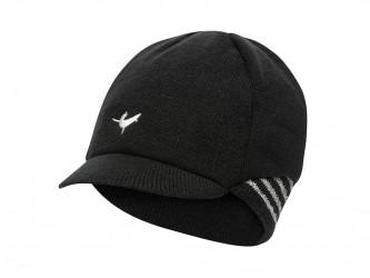 Sealskinz Belgian Style Cap - Vintercykelkasket - Sort/hvid - Str. S/M