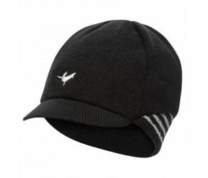 Sealskinz Belgian Style Cap - Vintercykelkasket - Sort/hvid