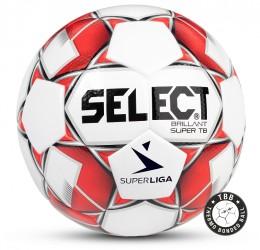 Select Brillant Super TB Superliga Fodbold hvid rød