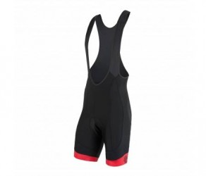 Sensor Cyklo Race - Bib shorts med pude - Sort/rød