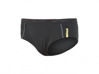 Sensor Merino Active Panties - Uldunderbukser - Dame - Sort - Str. L