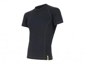 Sensor Merino DF Tee SS - Uld T-shirt - Herre - Sort - Str. M