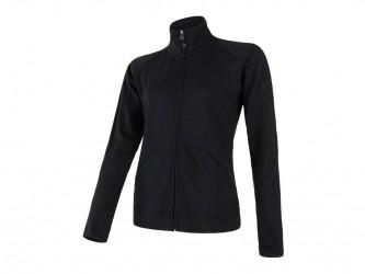 Sensor Merino Upper Fleece - Uldfleece jakke - Dame - Sort - Str. XL