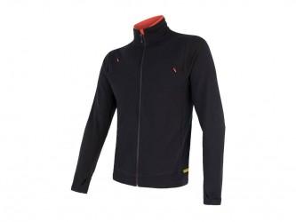 Sensor Merino Upper Fleece - Uldfleece jakke - Herre - Sort - Str. L