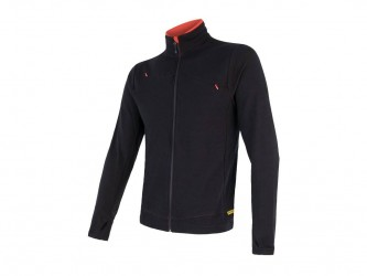 Sensor Merino Upper Fleece - Uldfleece jakke - Herre - Sort - Str. M