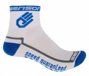 Sensor Race lite - Cykelstrømper - Hvid/blå