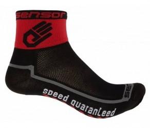Sensor Race lite - Cykelstrømper - Sort/rød