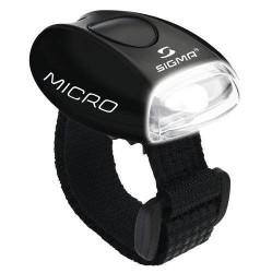 Sigma Hjelmlygte Sigma Micro sort med hvid lys