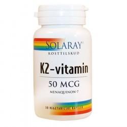 Solaray K2-vitamin 50 mcg- 30 caps