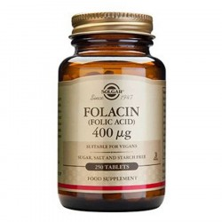 Solgar Folinsyre (Folacin) 400 mcg 250 tab