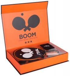 Stiga Boom 3* Bordtennisbat m.m. i orange gaveboks