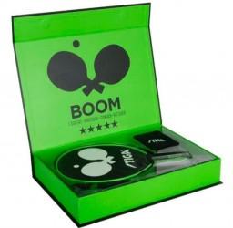 Stiga Boom 5* Bordtennisbat .m. i grøn gaveboks