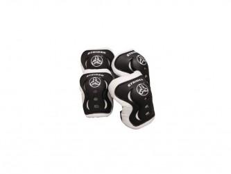 Strider beskyttelsessæt - Albue- & knæbeskytter - Sort/hvid