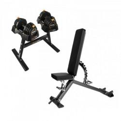 Taurus træningsbænk B900 + SelectaBell tilbudssæt