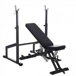 Taurus træningsbænk B900 inkl. vægtstativ til lang vægtstang