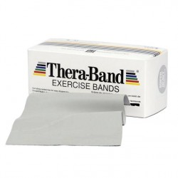 Thera-Band Træningselastik Bånd Level 6 Super Hård Sølv 5,5m