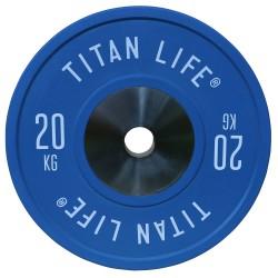 Titan LIFE Elite Bumper Plate Vægtskive - 20 kg...