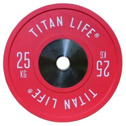 Titan LIFE Elite Bumper Plate Vægtskive - 25 kg...