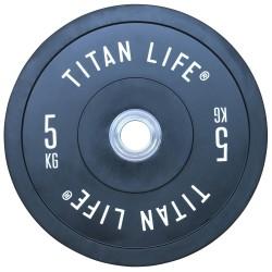 Titan LIFE Elite Bumper Plate Vægtskive - 5 kg...