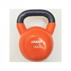 Titan LIFE Kettlebell 16kg Orange Cast iron w/Vin...