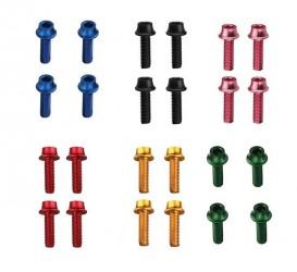 Token Bolt til flaskeholder i farver 4 stk - Farve: Sort