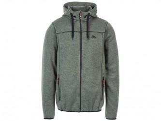 Trespass Odeno - Jakke i strikket Marl Fleece med hætte - Str. XL - Basil Marl