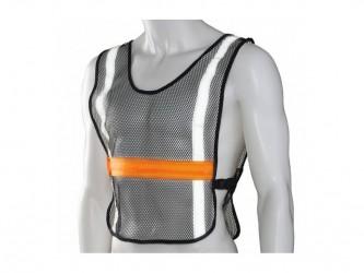 Ultimate Performance - High Visibility LED Vest - Løbe/cykelvest - Onesize - Sort/orange