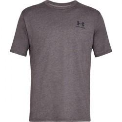 Under Armour Sportstyle Left Chest Short Sleeve Charcoal Medium