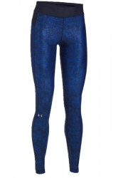 Under Armour Womens UA HeatGear Armour Printed Leggings - Blue