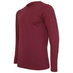 Urban Classic Fitted Stretch L/S Tee Burgundy
