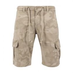 Urban Classics Camo Cargo Shorts Sand Camo