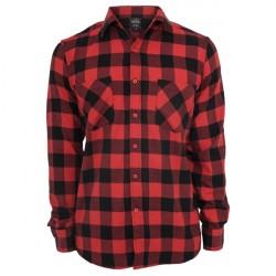 Urban Classics Checked Flannel Shirt Black/Red
